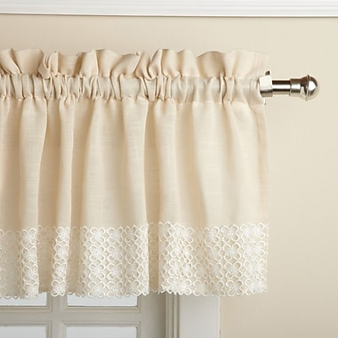 Sweet Home Collection Salem Kitchen 60'' Curtain Valance; French Vanilla