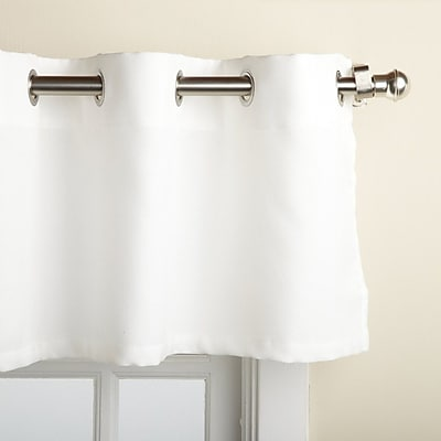 Sweet Home Collection Jackson Textured Solid Kitchen 60'' Curtain Valance; White WYF078278168175