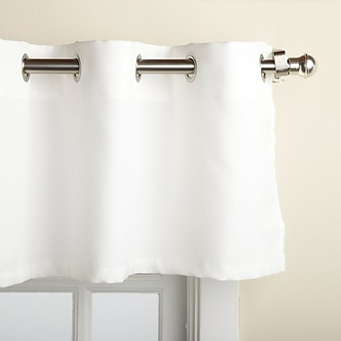 Sweet Home Collection Jackson Textured Solid Kitchen 60'' Curtain Valance; White