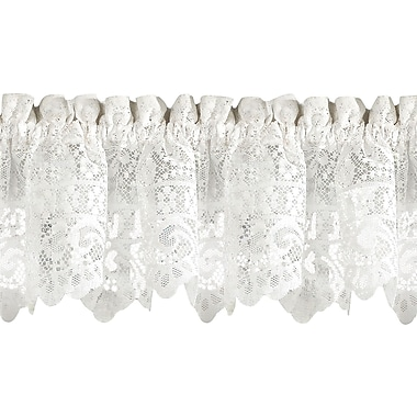 Sweet Home Collection Old World Style Floral Heavy Lace Kitchen 58'' Window Valance
