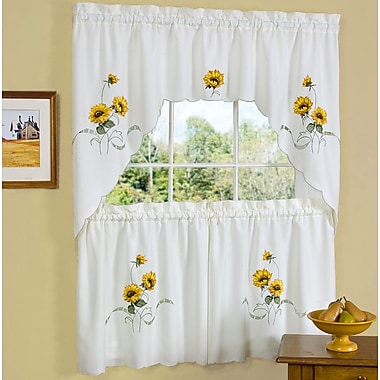 Sweet Home Collection Sunshine Valance and Tier Set