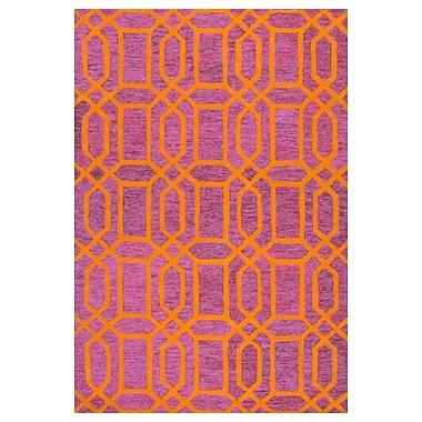 nuLOOM Tomika Hand-Tufted Pink Area Rug; 5' x 8'