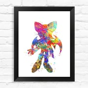 Dignovel Studios Rouge The Bat Contemporary Watercolor Framed Graphic Art; 15'' H x 12'' W x 1'' D