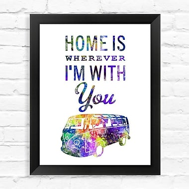 Dignovel Studios Family Quote Watercolor Framed Graphic Art; 15'' H x 12'' W x 1'' D