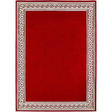 AllStar Rugs Red/Cream Area Rug; 5'2'' x 7'1''
