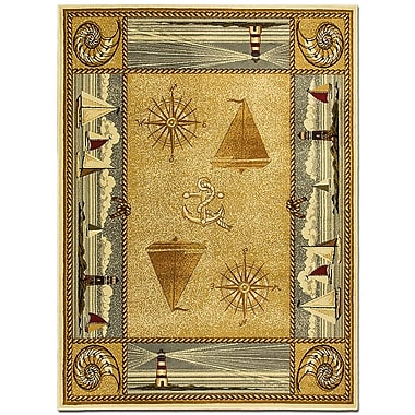AllStar Rugs African Contours Brown Area Rug; 7'7'' x 10'6''