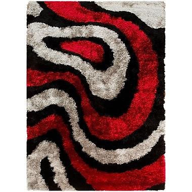 AllStar Rugs Hand-Tufted Red Area Rug; 4'11'' x 6'11''