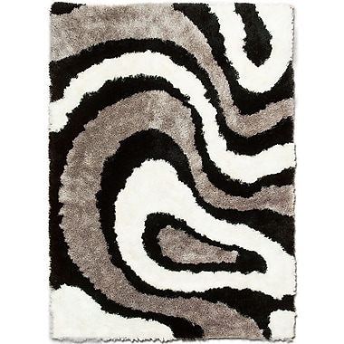 AllStar Rugs Hand-Tufted Brown Area Rug; 7'11'' x 10'5''