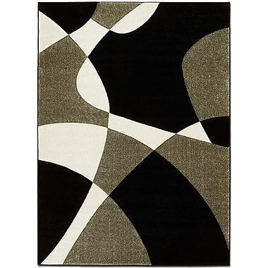 AllStar Rugs Black/Gray Area Rug; Rectangle 5'2'' x 7'2''