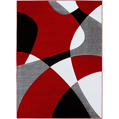 AllStar Rugs Red Area Rug; 7'9'' x 10'5''