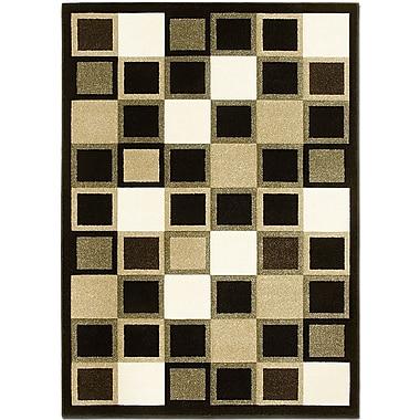AllStar Rugs Black Area Rug; Rectangle 3'9'' x 5'1''