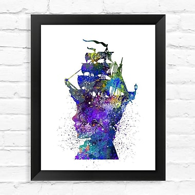 Dignovel Studios Marie Antoinette's Head Watercolor Framed Graphic Art; 15'' H x 12'' W x 1'' D