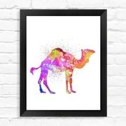 Dignovel Studios Camel Watercolor Framed Graphic Art; 15'' H x 12'' W x 1'' D