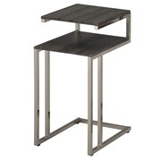 WHI 2 Tier Accent Tables, Faux Reclaimed/Brushed Nickel, (501-253GCL)