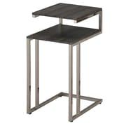 WHI – Tables d'appoint à 2 niveaux en nickel brossé, (501-253GCL)