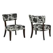 Brassex 5597 Accent Chair, Beige/Black