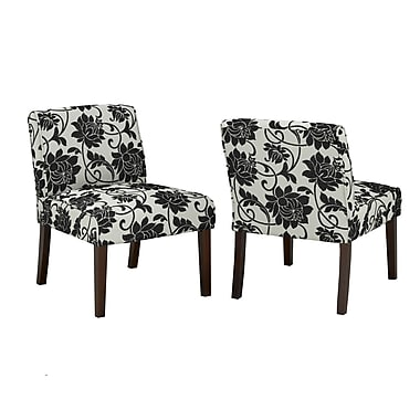 Brassex 5663 Accent Chair, Beige/Black