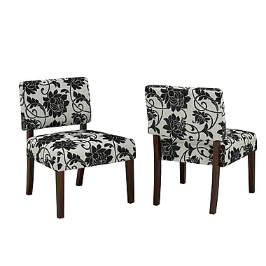 Brassex 5667 Accent Chair, Beige/Black