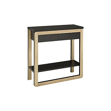Brassex 14923 Console Table with Drawer, Dark Taupe