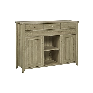 Brassex 150701-08-TP Buffet with Side Extension, Dark Taupe