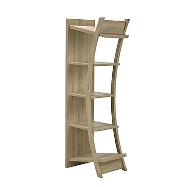 Brassex 151261-TP 4-Tier Display Shelf, Dark Taupe
