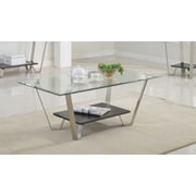 Brassex 210-02 Avalon Coffee Table, Silver