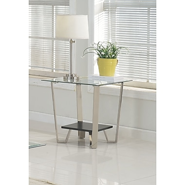 Brassex 210-06 Avalon Side Table, Silver