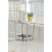 Brassex 210-06 Avalon Side Table, Silver