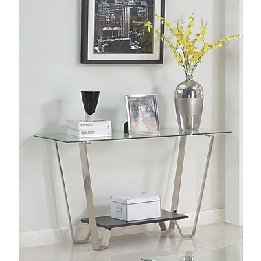 Brassex 210-08 Avalon Sofa Table, Silver