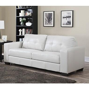 Brassex – Sofa Metro 2470S-WH, blanc