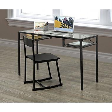 Brassex 27285 Office Desk & Chair set, Espresso