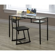 Brassex 27285 Office Desk & Chair set, Espresso