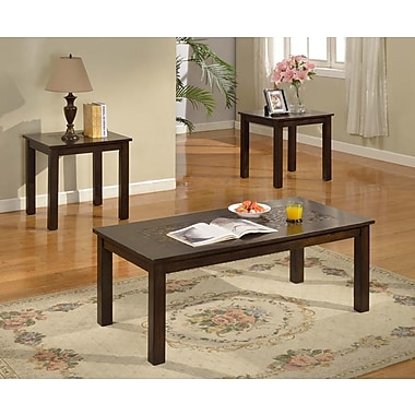 Brassex 4237 3-Piece Coffee Table Set, Espresso