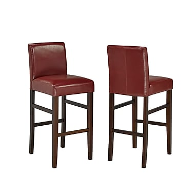 Brassex 5411-RD 29' Bar Stool, Set of 2, Red