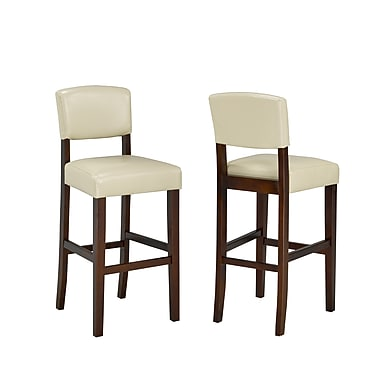 Brassex 5422-CR 29' Bar Stool, Set of 2, Cream
