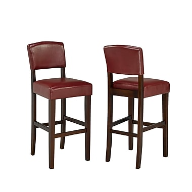 Brassex 5422-RD 29' Bar Stool, Set of 2, Red