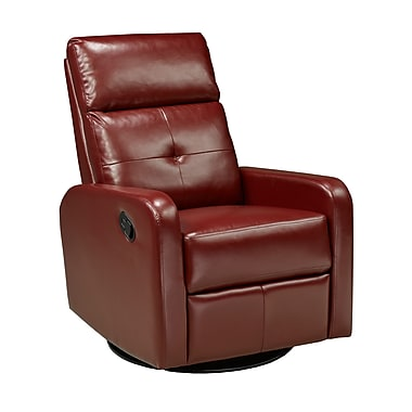 Brassex 657-RD Rocker/Recliner with Swivel, Red