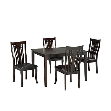 Brassex 995-15 Fairmont 5-Piece Kitchen Set, Espresso