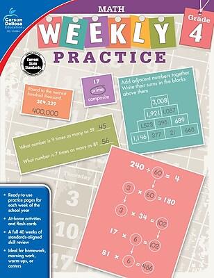 Carson Dellosa Math Workbook, Grade 4