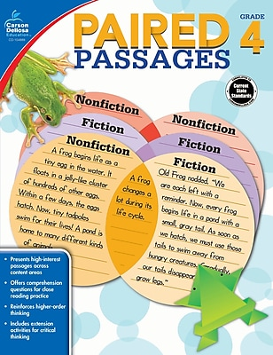 Paired Passages, Grade 4 Workbook (104889)