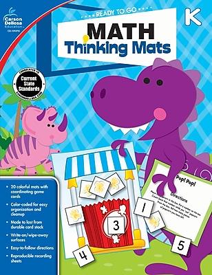 Carson Dellosa Math Thinking Mats Resource Book, Grade K