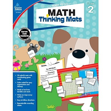 Carson-Dellosa Math Thinking Mats, Grade 2 Resource Book (104900)