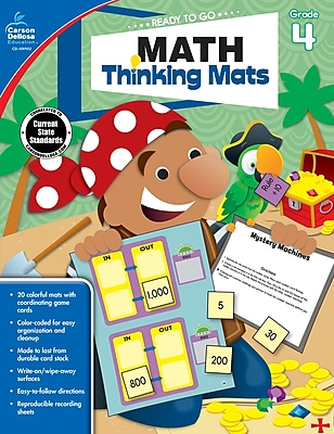 Carson Dellosa Math Thinking Mats Resource Book, Grade 4