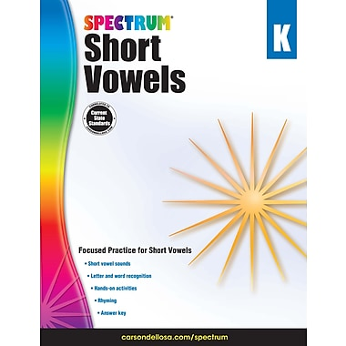 Spectrum Short Vowels Workbook, Grade K