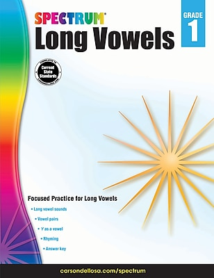 Spectrum Long Vowels Workbook, Grade 1