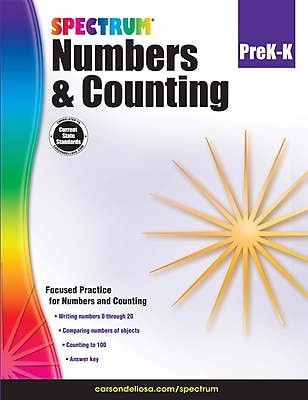 Spectrum Numbers & Counting Workbook, Grades Pre-K - K