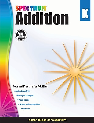 Spectrum Addition Workbook, Grade K