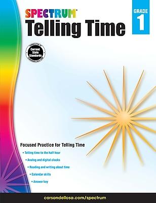 Spectrum Telling Time Workbook, Grade 1
