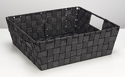 Simplify Large Shelf Tote, Black/Silver (26243-BLK-SILVE)