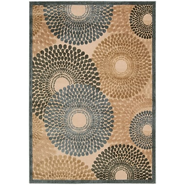 Nourison Illusions Brown/Blue Area Rug; 5'3'' x 7'5''